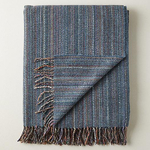 View larger image of Merino Wool Striped Throw