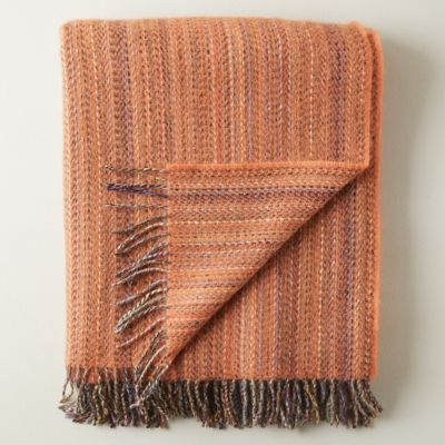 Merino Wool Striped Throw