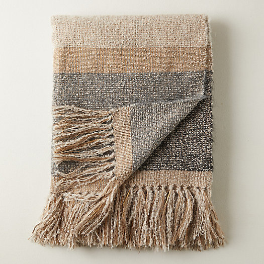 View larger image of Alpaca Wide Stripe Throw