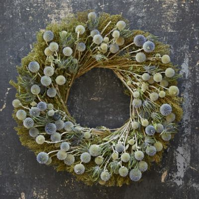 Preserved Sweet Annie + Echinops Wreath