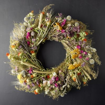 Preserved Fall Perennial Garden Wreath