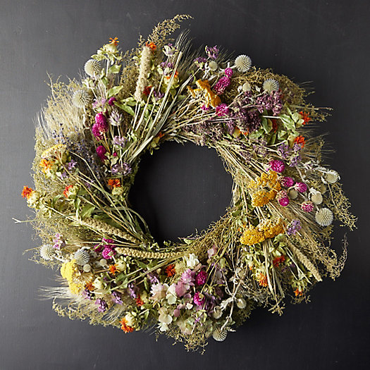 View larger image of Preserved Fall Perennial Garden Wreath