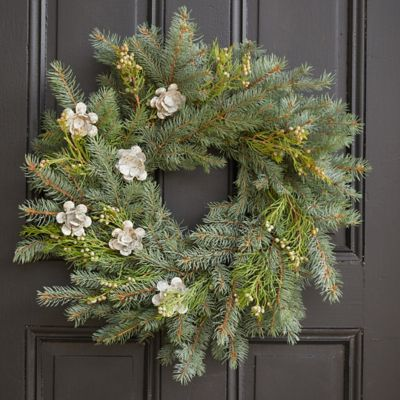 Evergreen + Rosebud Wreath