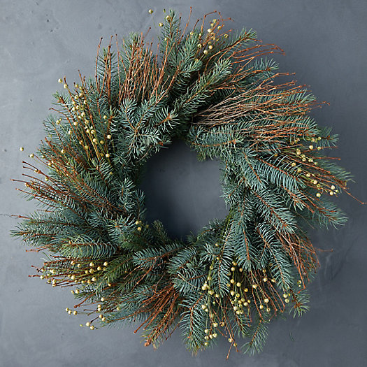 View larger image of Fresh Noble Fir + Quail Brush Twig Wreath