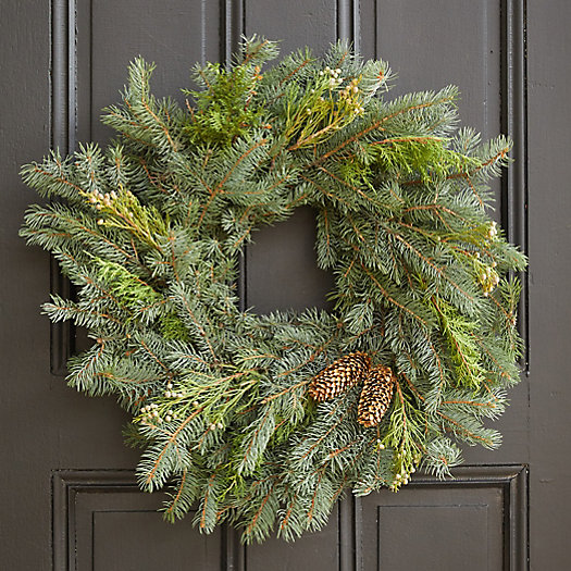 View larger image of Fresh Mixed Evergreen + Pine Cones Wreath