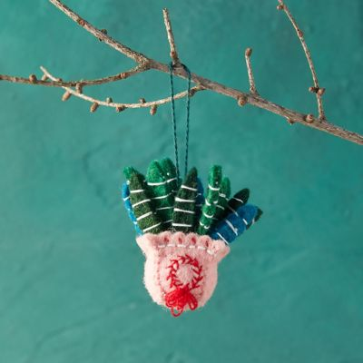Potted Houseplant Felt Ornament
