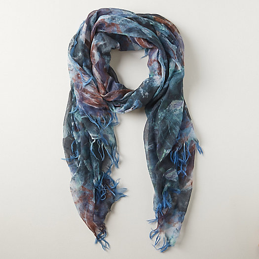 View larger image of Dancing Florals Wool Scarf