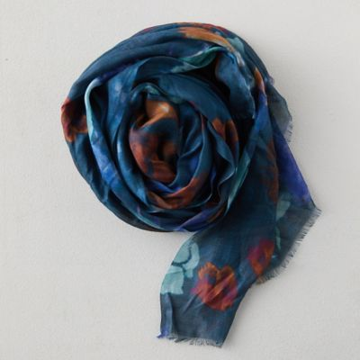 Watercolor Tulips Scarf