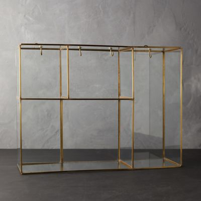 Brass Wall-Mounted Collection Display Box