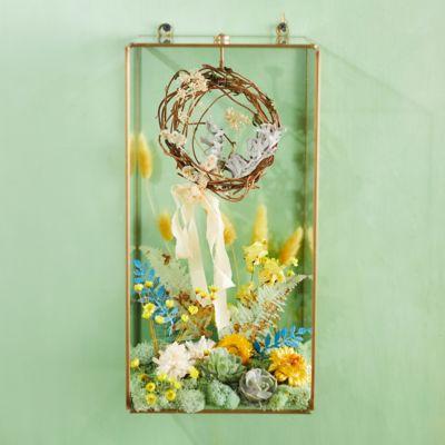 Wall-Mounted Brass Display Box, Rectangle