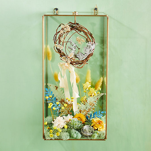 View larger image of Wall-Mounted Brass Display Box, Rectangle