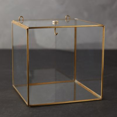 Wall-Mounted Brass Display Box, Cube