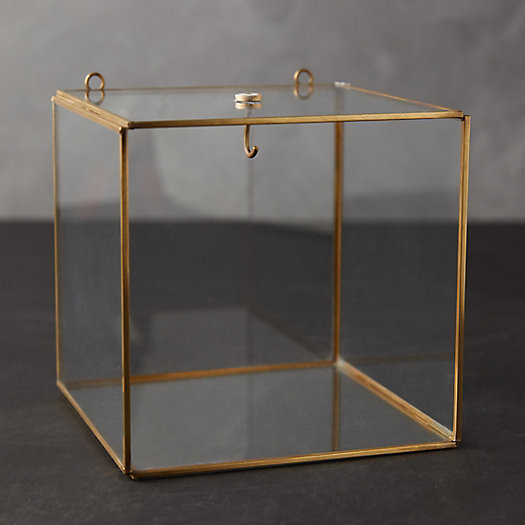 View larger image of Wall-Mounted Brass Display Box, Cube