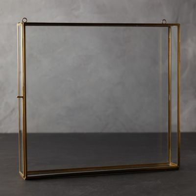 Brass Wall-Hanging Shadow Box