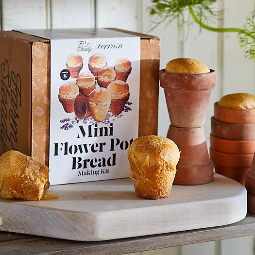 View larger image of Mini Flower Pot Bread Kit, Set of 8
