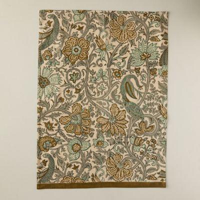 Olive Peacock Tea Towel