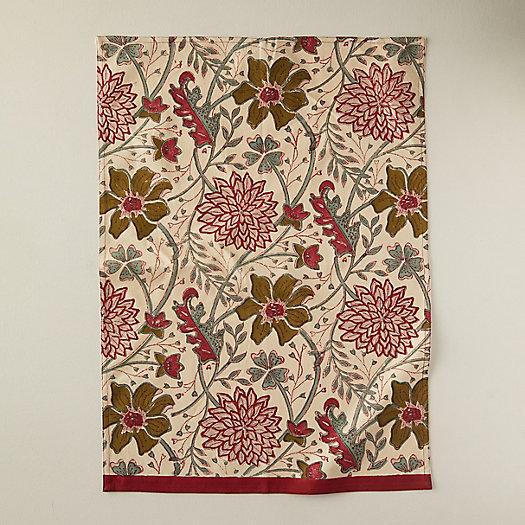 View larger image of Burgundy + Olive Florals Tea Towel