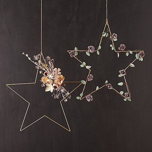 View larger image of Iron Star Wreaths, Set of 2