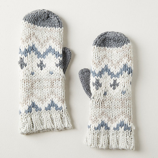 View larger image of Fairisle Cashmere Blend Mittens