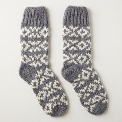 Sleigh Ride Cabin Socks