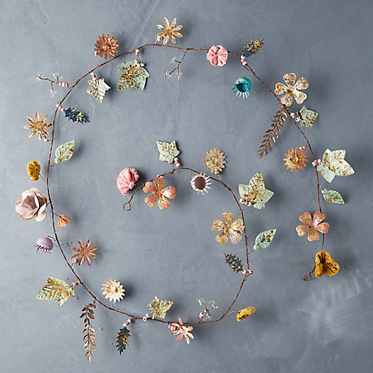 View larger image of Gilded Botanicals Iron + Velvet Garland, Small