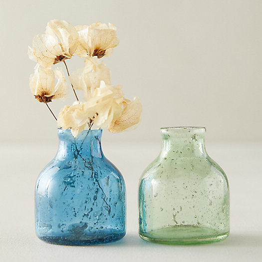 View larger image of Green + Blue Bubble Bud Vases, Set of 2