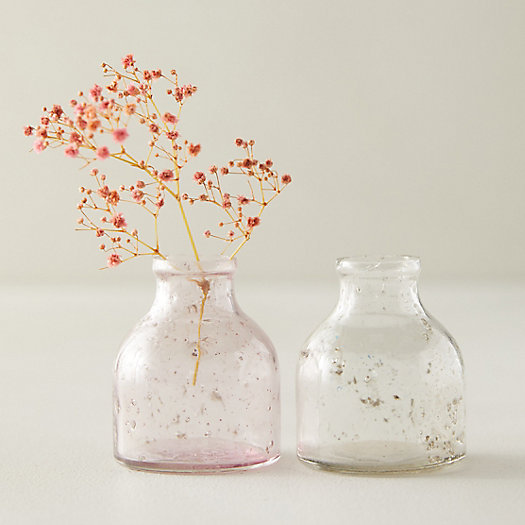 View larger image of Purple + White Bubble Bud Vases, Set of 2