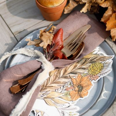 Fall Feather Placecards, Set of 12