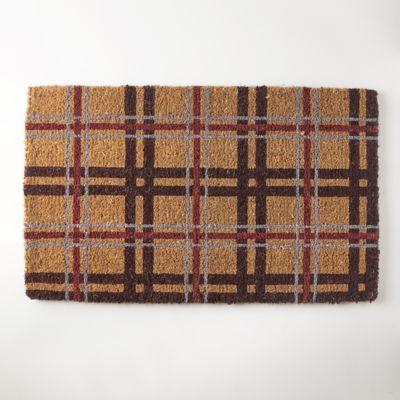Plaid Doormat