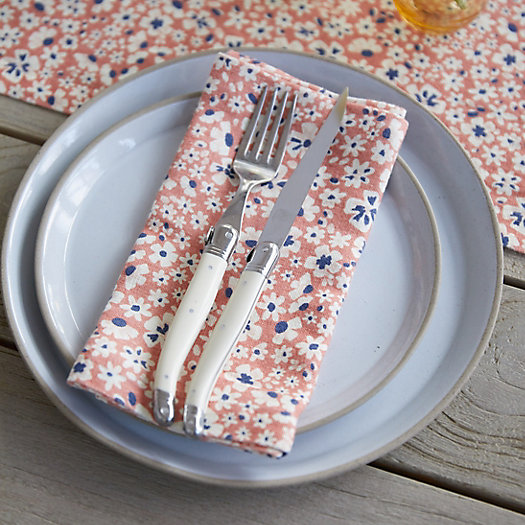 View larger image of Pink Blossoms Linen Napkins, Set of 2