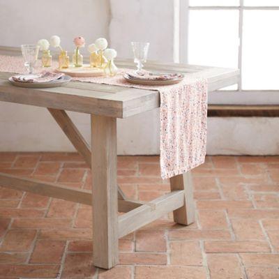 Pink Blossoms Linen Table Runner