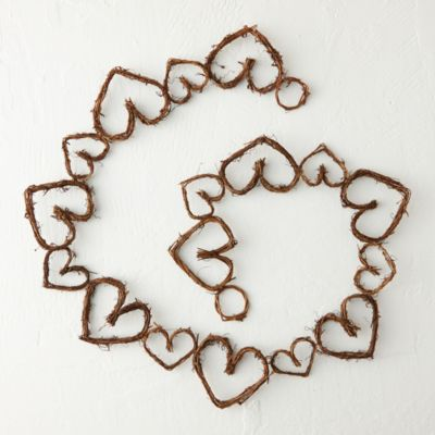 Grapevine Hearts Garland