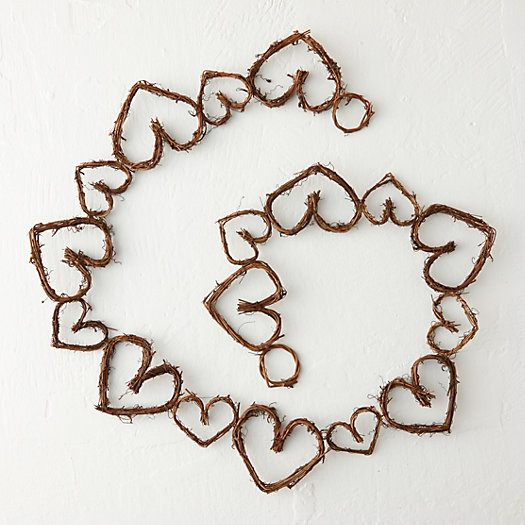 View larger image of Grapevine Hearts Garland