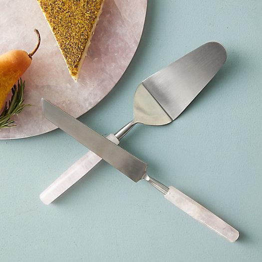 View larger image of Rose Quartz Cake Serving Set