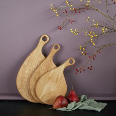 Oak Teardrop Cutting Boards, Set of 3