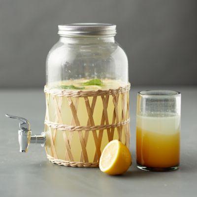 Rattan + Glass Drink Dispenser