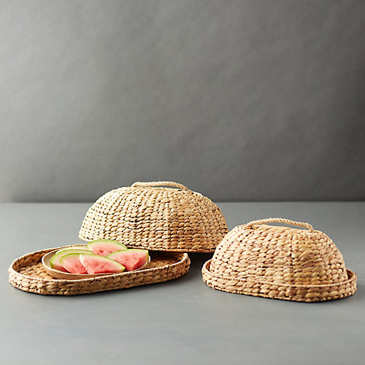 View larger image of Woven Straw Food Covers, Set of 2
