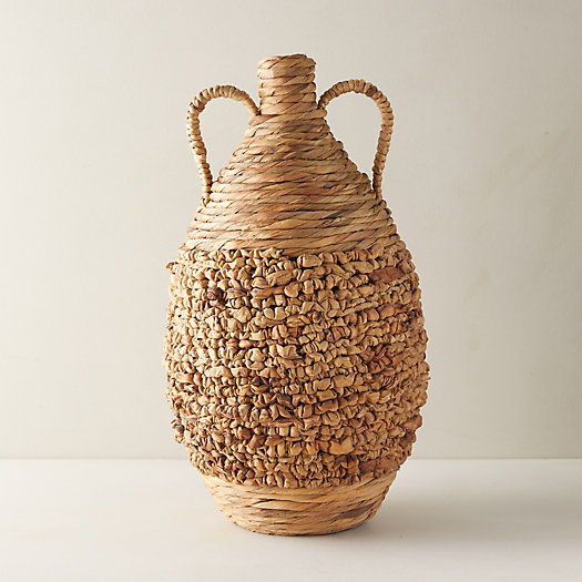 View larger image of Woven Floor Vase with Handles