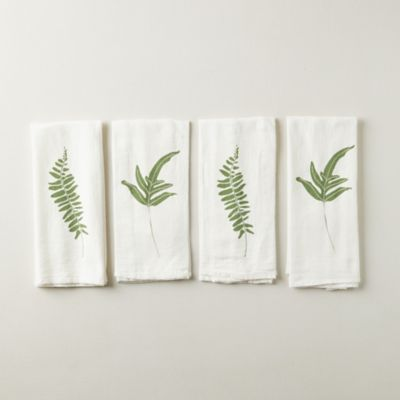 Rock Cap + Fern Napkins, Set of 4