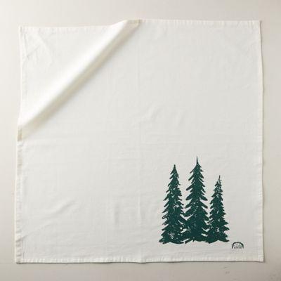 Turkish Cotton Tea Towel, Evergreens