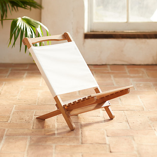 View larger image of Two Piece Portable Teak Lounge Chair