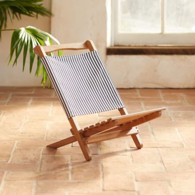 Two Piece Portable Teak Lounge Chair