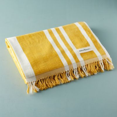 Rockaway Striped Cotton Beach Towel
