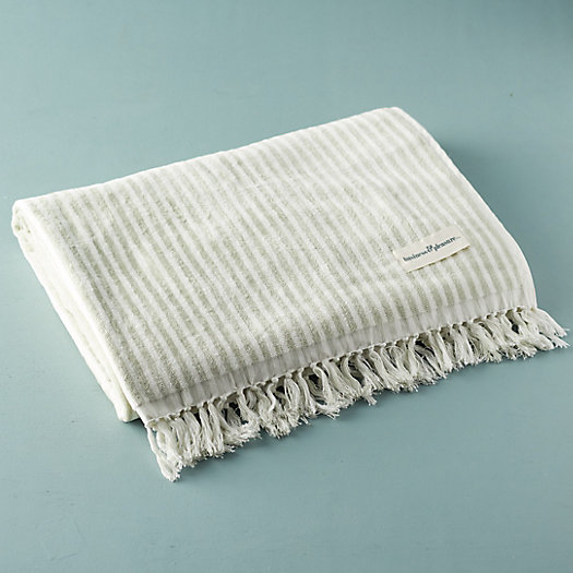 View larger image of Venice Fringed Cotton Beach Towel