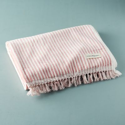 Venice Fringed Cotton Beach Towel