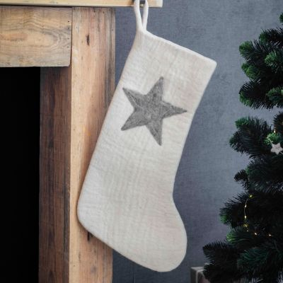 Felted Wool Star Stocking