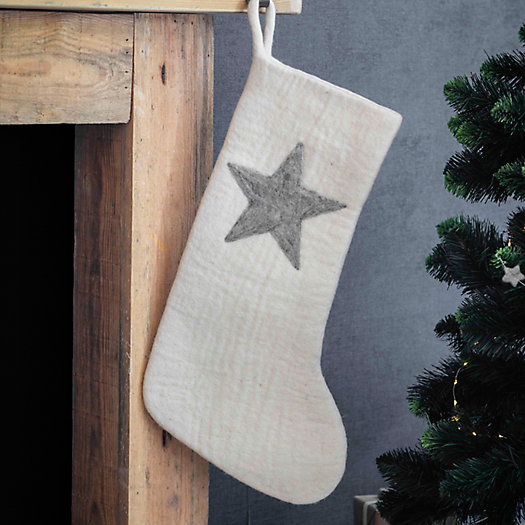 View larger image of Felted Wool Star Stocking