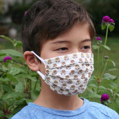 Reusable Block Print Cloth Face Mask, Child