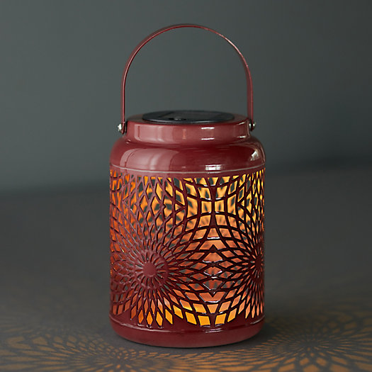View larger image of Punched Iron Solar Lantern
