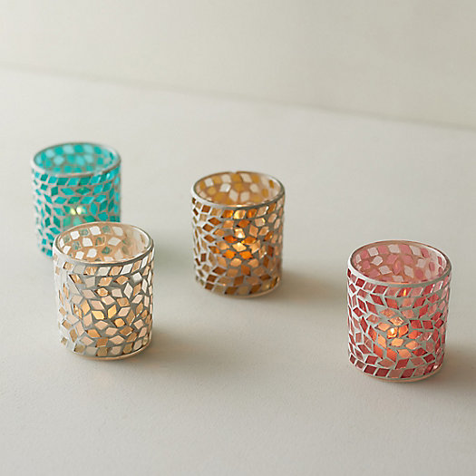 View larger image of Colorful Mosaic Votives, Set of 4